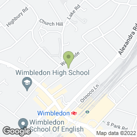 Map of Worcester House Hotel in Wimbledon, London, london