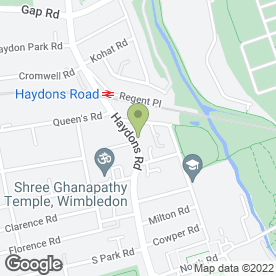 Map of Haydons Road P.O in London, london