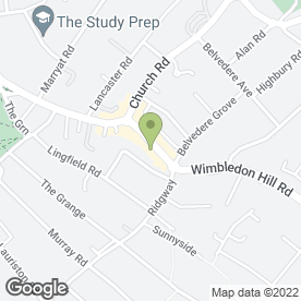 Map of Aircon Worldwide Ltd in Wimbledon, London, london