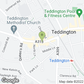Map of Hogarth in Teddington, middlesex