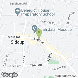 Map of Specsavers in Sidcup, kent