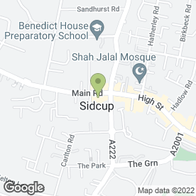 Map of Sinlen Beauty Clinic in Sidcup, kent