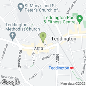 Map of Al Borgo Restaurant in Teddington, middlesex