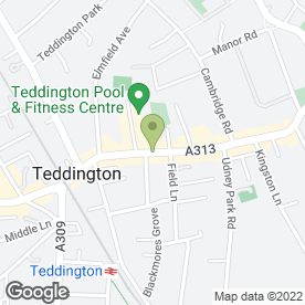 Map of Starbucks Coffee Co (UK) Ltd in Teddington, middlesex