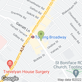Map of Greggs in Tooting, London, london