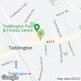 Map of Gentleman's Hairdresser in Teddington, middlesex