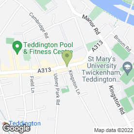 Map of Mark's Water Garden Ltd in Teddington, middlesex