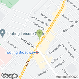 Map of Blue Arrow in Tooting, London, london