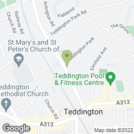 Map of Clay & Co in Teddington, middlesex