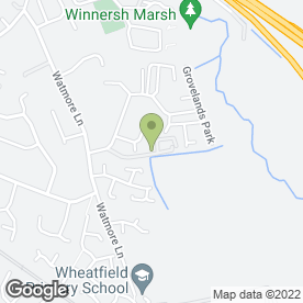Map of Alpha Blinds & Curtains in Grovelands Avenue, Winnersh, Wokingham, berkshire