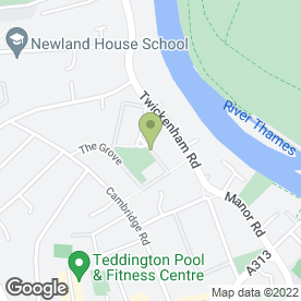 Map of Akinade Uk Ltd in Teddington, middlesex