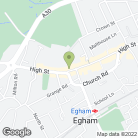 Map of The Crown in Egham, surrey