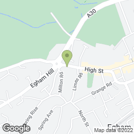 Map of Belle Vue Blinds Ltd in Egham, surrey
