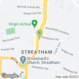 Map of Royal Bank of Scotland in Streatham, London, london