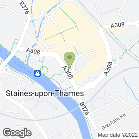 Map of Staines Community Centre in Staines-Upon-Thames, middlesex