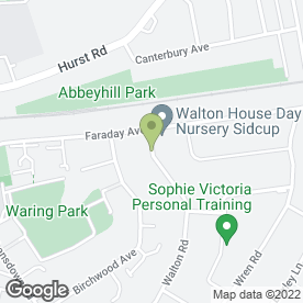 Map of Waltonoak Building Services in Sidcup, kent
