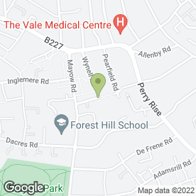 Map of Forest Hill Bowling Club in London, london