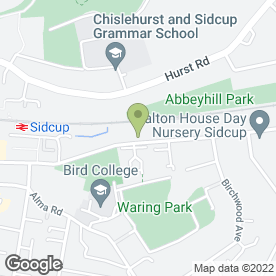 Map of A & E Locksmiths in Sidcup, kent