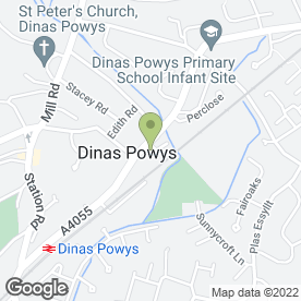 Map of DINAS VETS in Dinas Powys, south glamorgan
