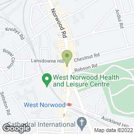 Map of Norwood Dood Repairs in West Norwood, london