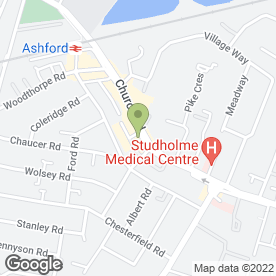 Map of Thomson Bureaux de Change in Ashford, middlesex