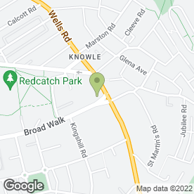 Map of Broadwalk Shopping Centre in Knowle, Bristol, avon