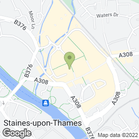 Map of Vue Cinema in Staines-Upon-Thames, middlesex