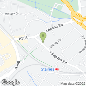 Map of Staines Mobility in Staines-Upon-Thames, middlesex