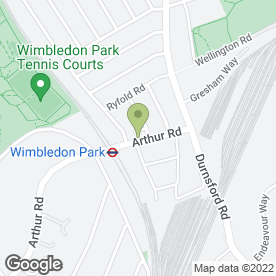 Map of Wimbledon Park P.O in London, london