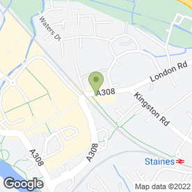 Map of Robert Tracey Ltd in Staines, middlesex
