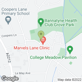 Map of Marvels Lane Clinic in LONDON, london
