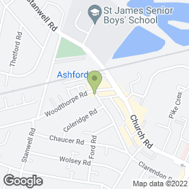 Map of CJ'S Petfood Supplies in Ashford, middlesex