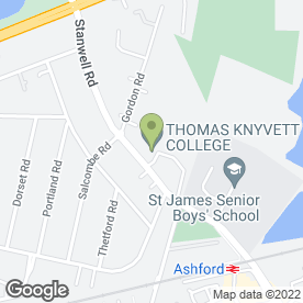 Map of Fordway Centre in Ashford, middlesex