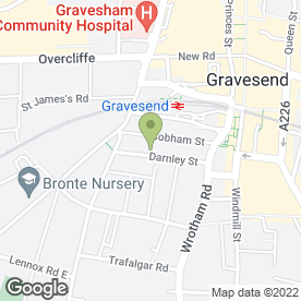 Map of Kent Wedding Planners in Gravesend, kent