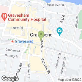 Map of Iconic Beauty in Gravesend, kent