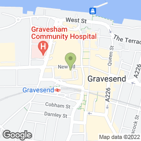 Map of Barclays Bank plc in Gravesend, kent