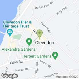 Map of Betty Jones Beauty Salon in Clevedon North Somerset, avon