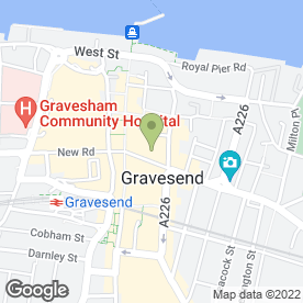 Map of Favourite Fried Chicken in Gravesend, kent