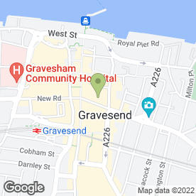 Map of Caesars Italian Restaurant in Gravesend, kent
