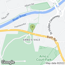 Map of Cemetery of Holy Souls in Arnos Vale, Bristol, avon