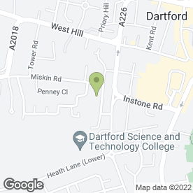 Map of 24 Hr Mobile Tyres in Dartford, kent