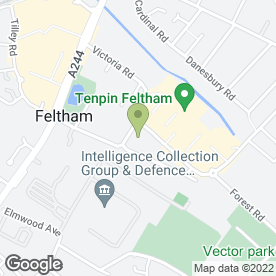 Map of Hamker Foods Ltd in Feltham, middlesex