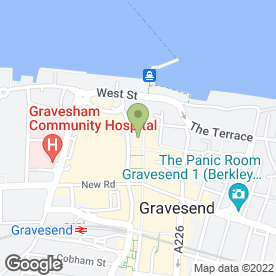 Map of Peasher Restaurant & Bar in Gravesend, kent