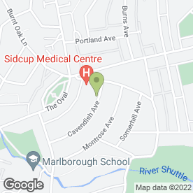Map of Kevin Jermin Painting & Decorating in Sidcup, Kent, kent
