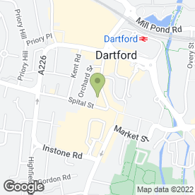 Map of Kings Hair & Beauty in Dartford, kent