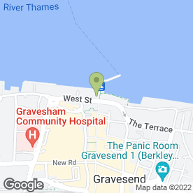 Map of The Three Daws in Gravesend, kent