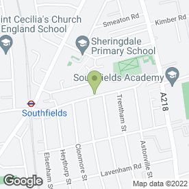 Map of Medivet Southfields in London, london