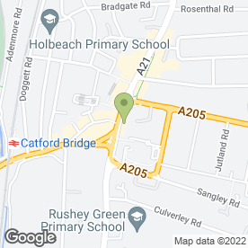 Map of Tesco Superstore in Catford, London, london