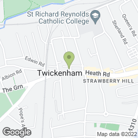 Map of BT Flooring Services in Twickenham, middlesex