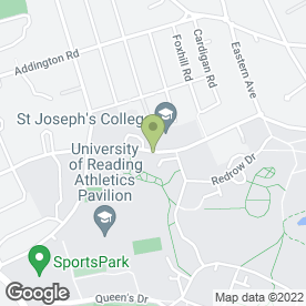 Map of St Josephs in Reading, berkshire
